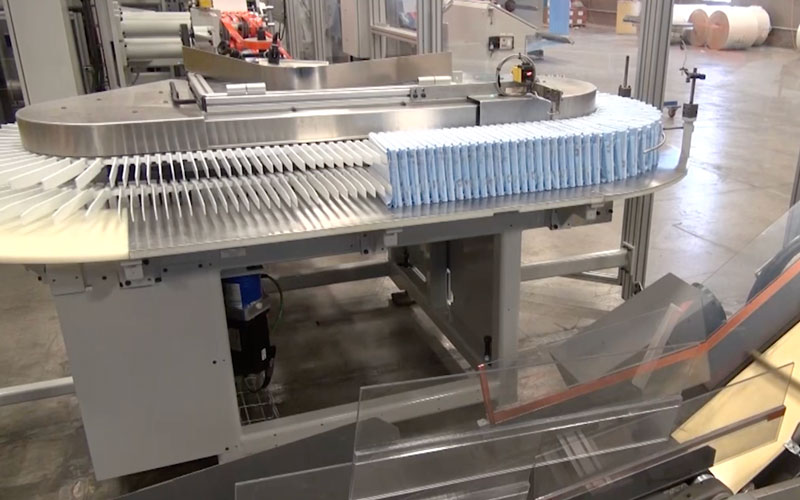 Production line stacking